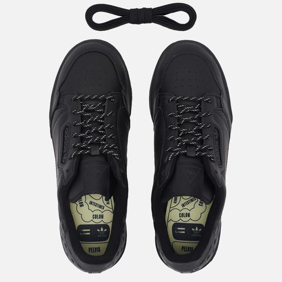 Кроссовки adidas Originals x Pharrell Williams Continental 80 Core Black/Core Black/Core Black
