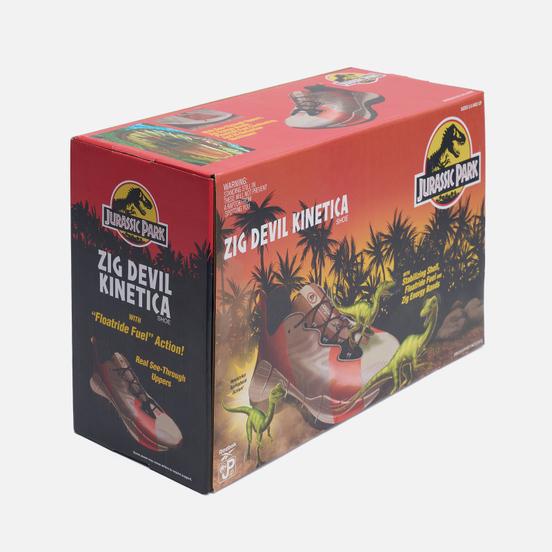 Кроссовки Reebok x Jurassic Park Zig Devil Kinetica Moon Whight/Rad Red/Coal