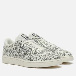 Кроссовки Reebok x Keith Haring Club C Chalk/Pure Grey/Chalk