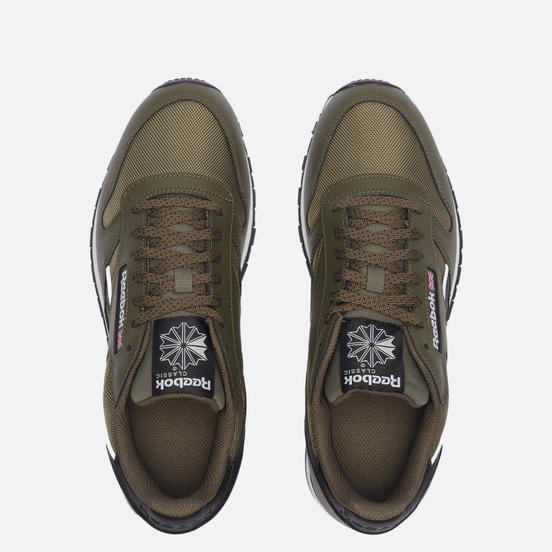 Мужские кроссовки Reebok Classic Leather Army Green/Core Black/White