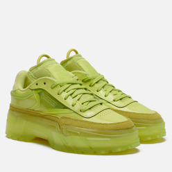 Женские кроссовки Reebok x Cardi B Club C High Vis Green/High Vis Green/Clear