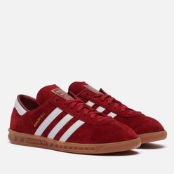 Кроссовки adidas Originals Hamburg Team Victory Red/Cloud White/Gum