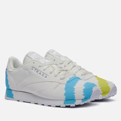 Женские кроссовки Reebok x Collina Strada Classic Leather White/Digital Blue/Acid Yellow