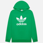 Мужская толстовка adidas Originals Adicolor Trefoil Hoodie Green/White фото - 0