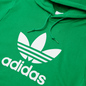 Мужская толстовка adidas Originals Adicolor Trefoil Hoodie Green/White фото - 1