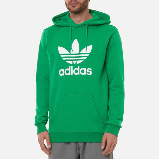 Мужская толстовка adidas Originals Adicolor Trefoil Hoodie Green/White