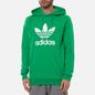Мужская толстовка adidas Originals Adicolor Trefoil Hoodie Green/White фото - 2