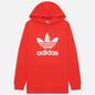 Мужская толстовка adidas Originals Adicolor Trefoil Hoodie Red/White фото - 0