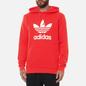 Мужская толстовка adidas Originals Adicolor Trefoil Hoodie Red/White фото - 2