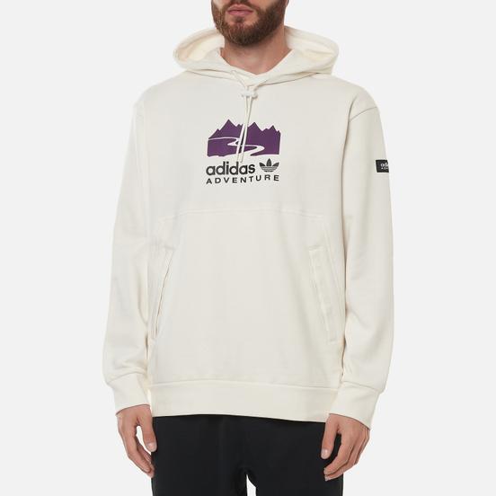 Мужская толстовка adidas Originals Adventure Logo Hoodie Cloud White