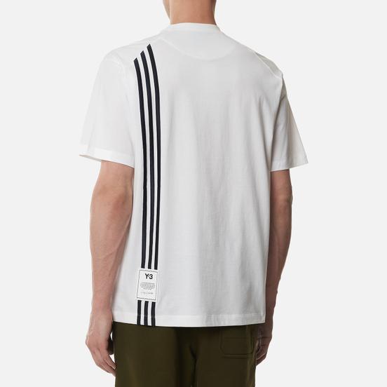 Мужская футболка Y-3 3 Stripe Crew Neck Core White