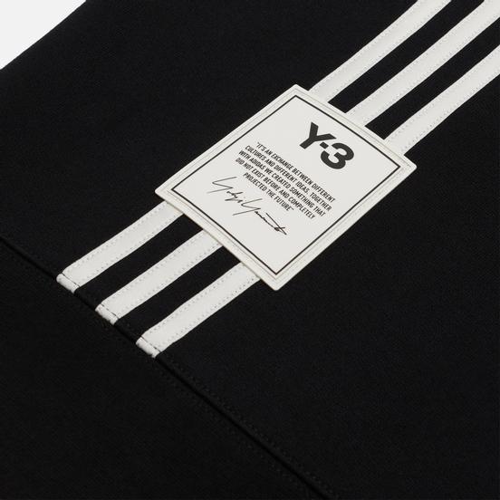 Мужская толстовка Y-3 3 Stripe Terry Hoodie Black