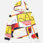 Мужская толстовка adidas Originals All Over Print Logo Play Hoodie White фото - 0