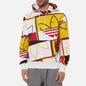 Мужская толстовка adidas Originals All Over Print Logo Play Hoodie White фото - 2