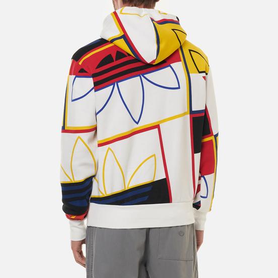 Мужская толстовка adidas Originals All Over Print Logo Play Hoodie White