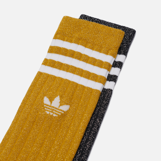 Комплект носков adidas Originals 2-Pack Full Glitter Crew Victory Gold/Black