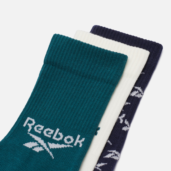 Комплект носков Reebok 3-Pack Classic Fold-Over Crew Midnight Pine