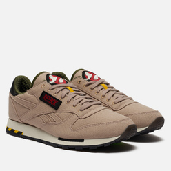 Мужские кроссовки Reebok x Ghostbusters Classic Leather Modern Beige/Black/Blaze Yellow