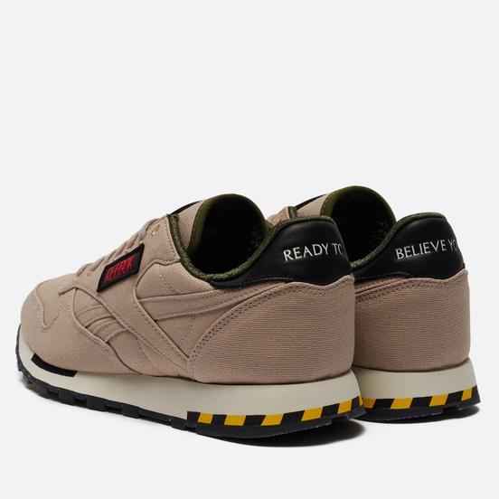 Мужские кроссовки Reebok x Ghostbusters Classic Leather Modern Beige/Black/Blaze Yellow