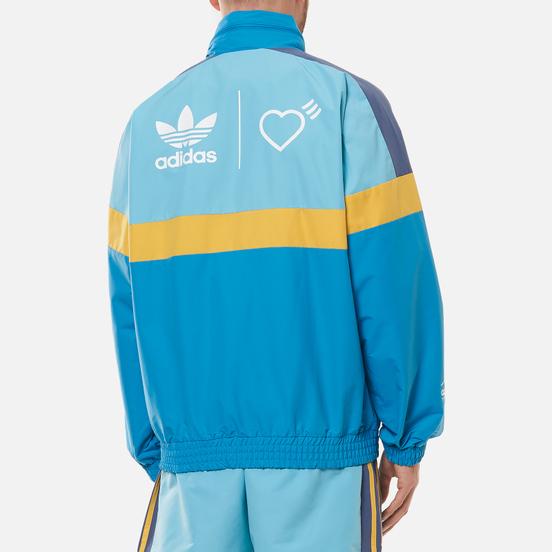 Мужская куртка adidas Originals x Human Made Windbreaker Light Aqua/St. Fade Gold