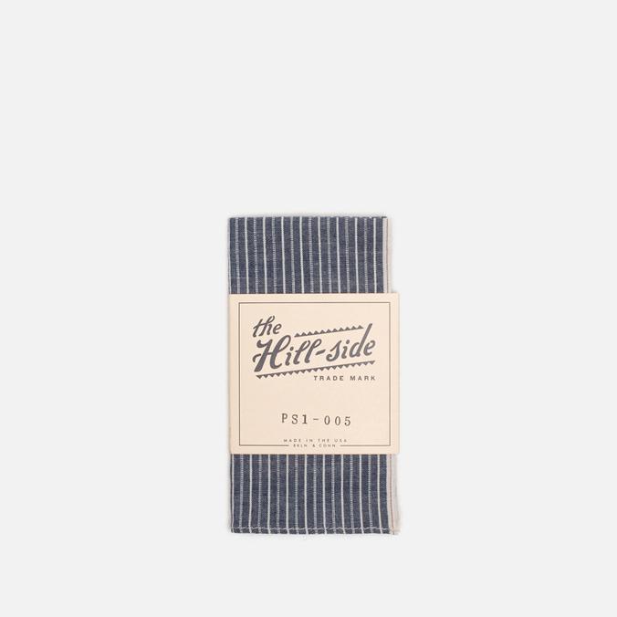 The Hill-Side Selvedge Double Stripe Handkerchiefs Indigo