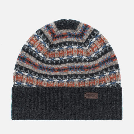 Barbour Malrose Fairisle Beanie Hat Grey Multi