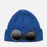 Мужская шапка C.P. Company Beanie Goggle Indigo Blue фото- 0