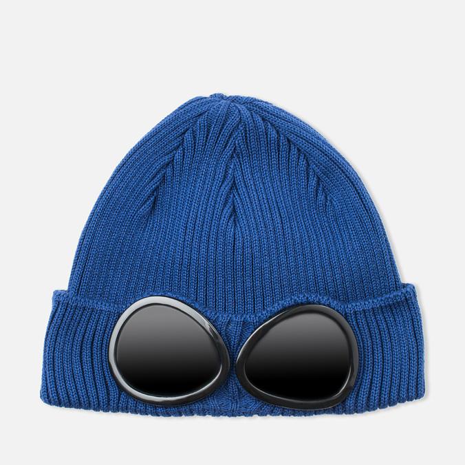 Мужская шапка C.P. Company Beanie Goggle Indigo Blue