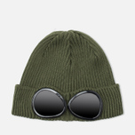 C.P. Company Beanie Goggle Hat Military Green photo- 0