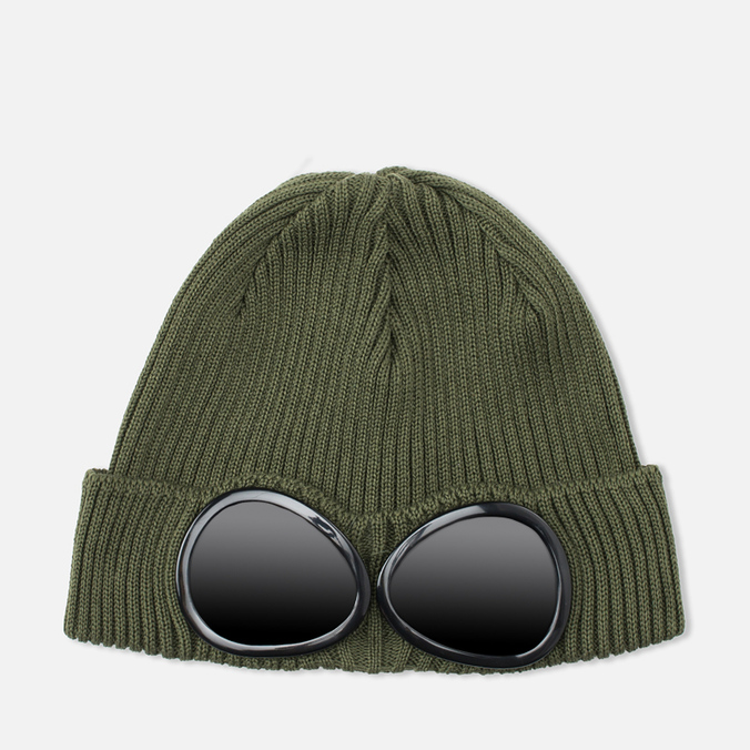 C.P. Company Beanie Goggle Hat Military Green