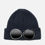Мужская шапка C.P. Company Beanie Goggle Navy фото- 0