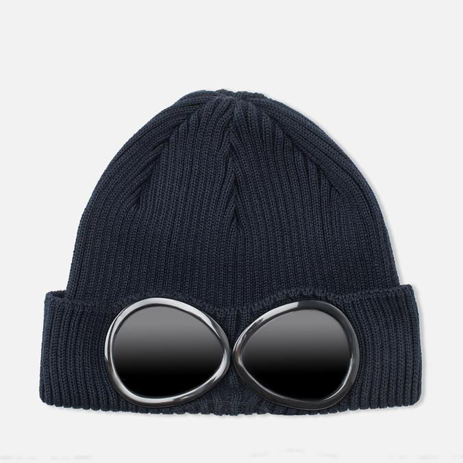 Мужская шапка C.P. Company Beanie Goggle Navy