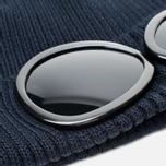 Мужская шапка C.P. Company Beanie Goggle Navy фото- 1