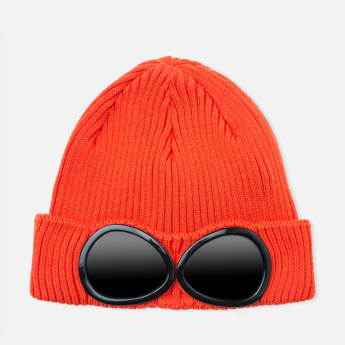 C.P. Company Beanie Goggle Hat Orange