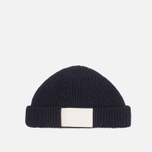 Шапка Gloverall Naval Beanie Navy фото- 0