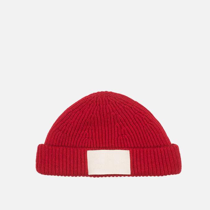 Gloverall Naval Beanie Red