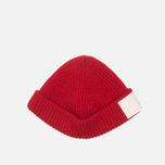 Шапка Gloverall Naval Beanie Red фото- 2