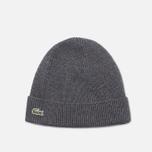 Мужская шапка Lacoste Beanie Grey фото- 0