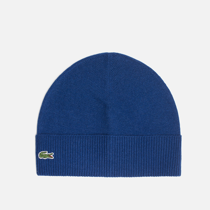 Мужская шапка Lacoste Beanie Mixed Wool Blue