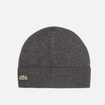 Мужская шапка Lacoste Beanie Mixed Wool Dark Grey фото- 0