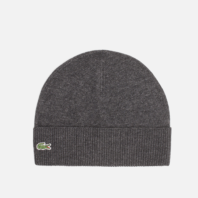 Мужская шапка Lacoste Beanie Mixed Wool Dark Grey