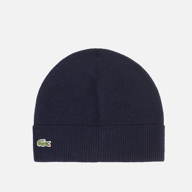 Lacoste Beanie Mixed Wool Navy