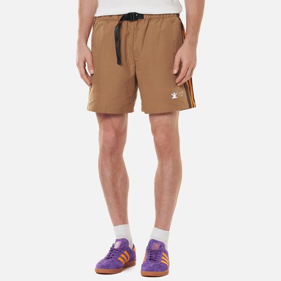 Мужские шорты adidas Originals x Human Made Wind Cardboard/Tangerine