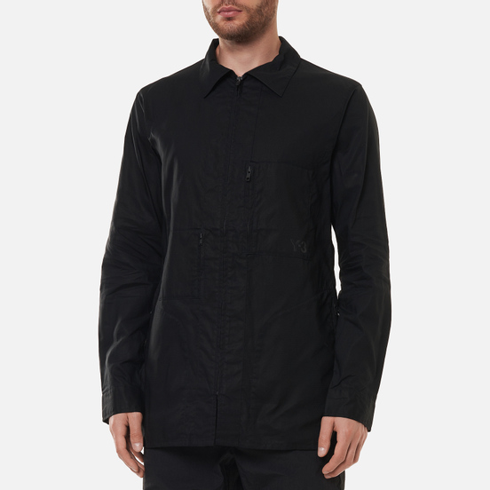 Мужская рубашка Y-3 Chapter 1 Waxed Ripstop Utility Utility Black