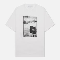 Мужская футболка Y-3 Chapter 2 Zine Page-1 Core White