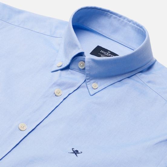 Мужская рубашка Hackett Continuity Washed Oxford Sky