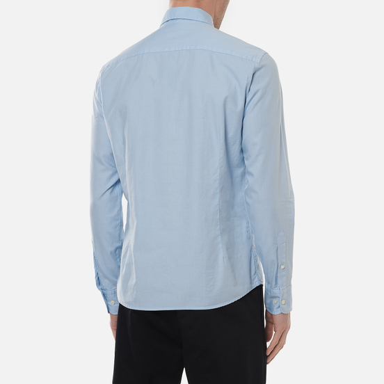 Мужская рубашка Hackett Garment Dye Oxford Chambry Blue