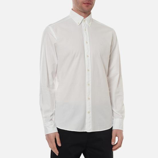 Мужская рубашка Hackett Garment Dye Oxford Optic White