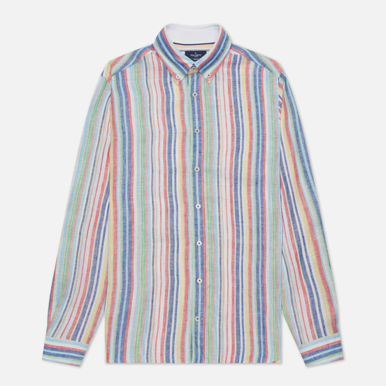Мужская рубашка Hackett Multi Coloured Stripe Oxford Multi