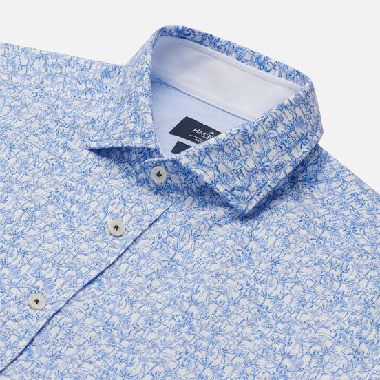 Мужская рубашка Hackett Palmtree Print Sky/White